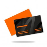 Business cards with spot UV-coating, 1-sided