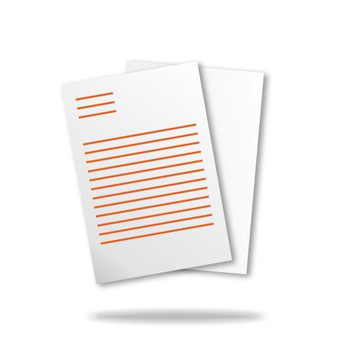Briefpapier Din A4 210mm X 297mm 4 0 Farbig Vorderseite Farbig Rückseite Unbedruckt